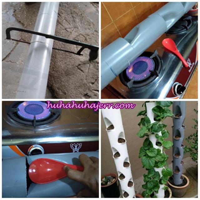 Cara Buat Pasu Bunga Bertingkat-tingkat Dengan Paip PVC