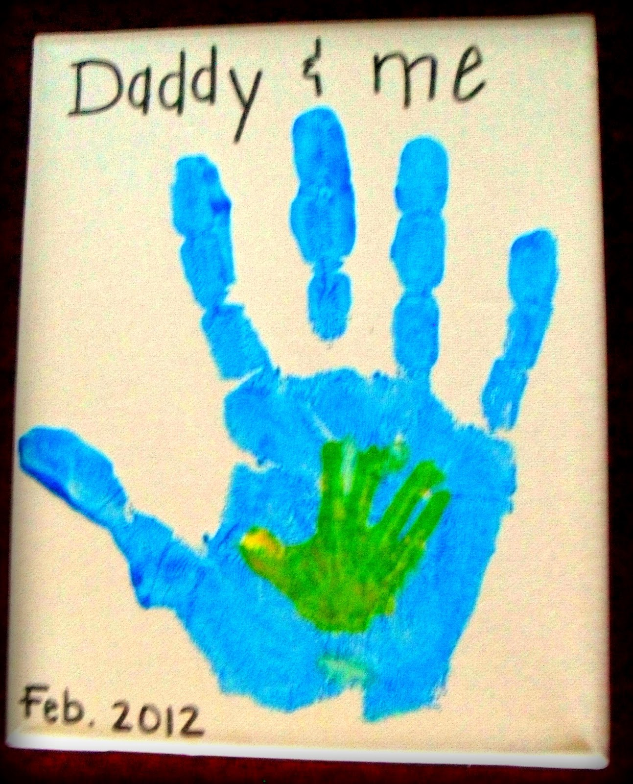 Father S Day Handprint Daddy And Me Craft Preschool Crafts For Kids