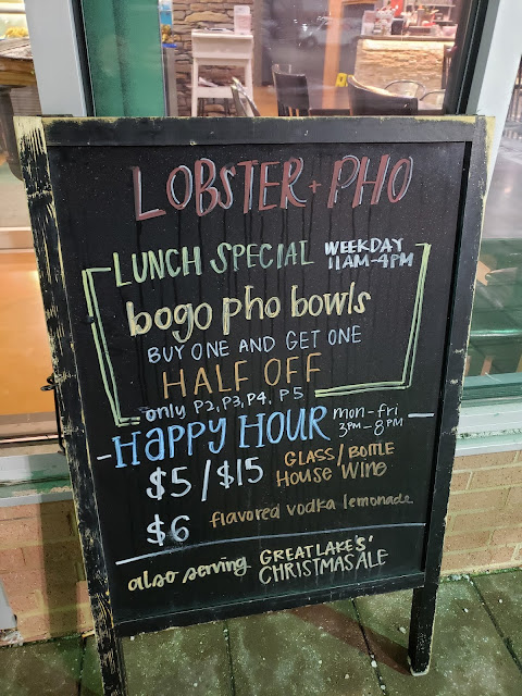 happy hour, cleveland, lobster and pho, lobster, pho, Independence Ohio restaurant, seafood boil, cajun, Vietnamese restaurant, spicy pho