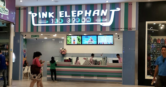 Pink Elephant Ice Cream Review (Queensbay Penang)