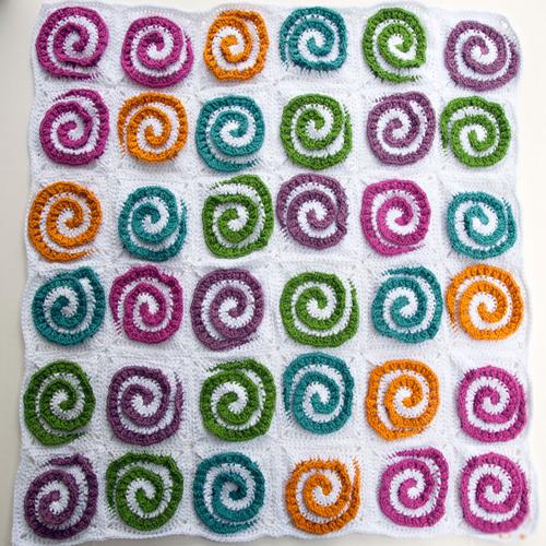Modern Rose Afghan - Free Pattern