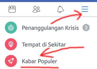 kabar populer di facebook
