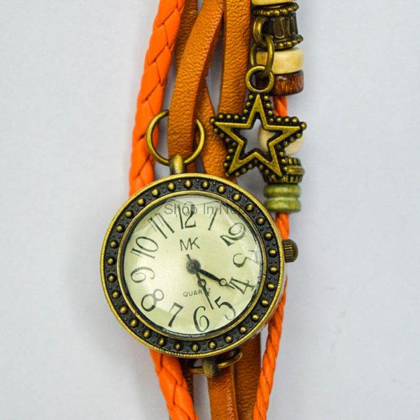 Bracelet design retro watch brown color hamrobazar for Kitchen daraj design