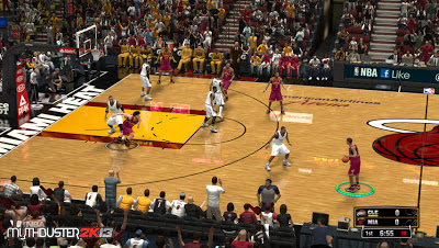 NBA 2K13 Miami Heat HD Court Patch