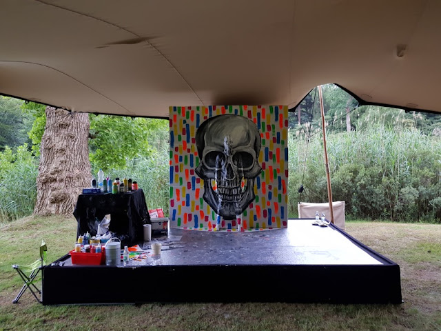 Flesh and Acrylic - Skull - Ben Heine Art - Live Art Festival - ABN Amro - Paleis Soestdijk