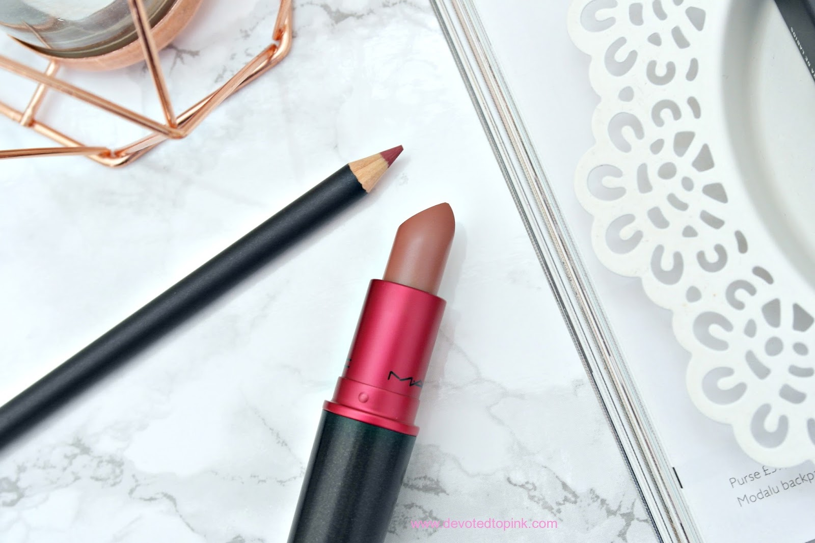 MAC Viva Glam II lipstick, MAC Dervish Lip Liner, review