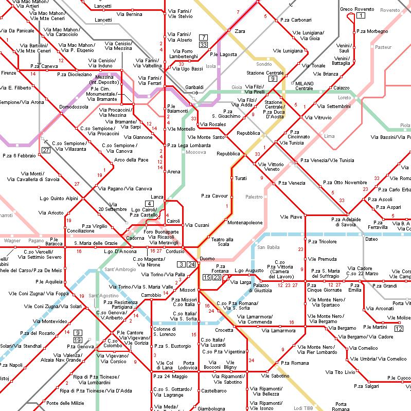 map tram