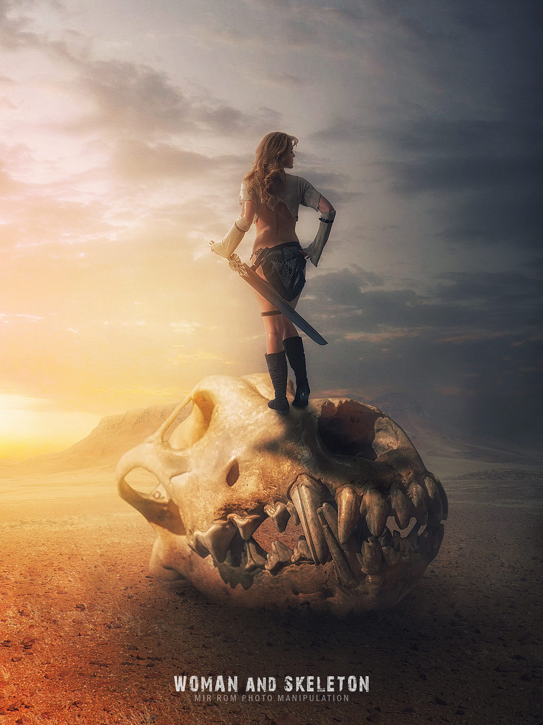 Photoshop Tutorial Photo Manipulation a Woman and Skeleton