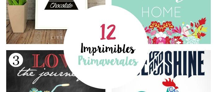 12 imprimibles primaverales
