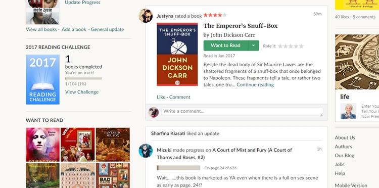 goodreads feed