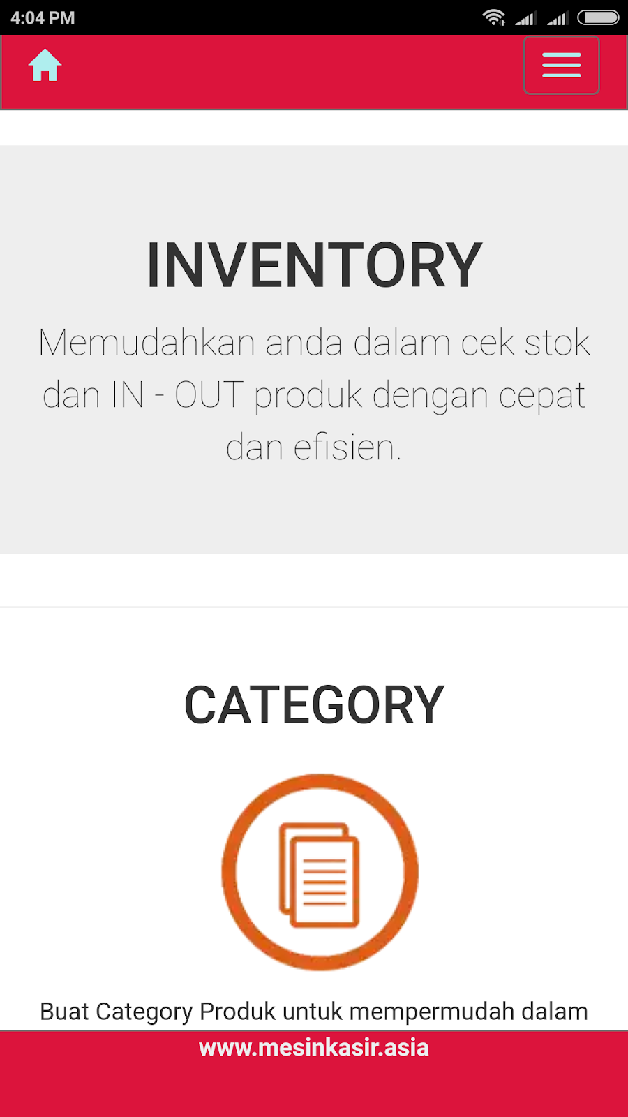 system software inventory gudang in-out stok website bisa diakses via handphone android dan lain lain
