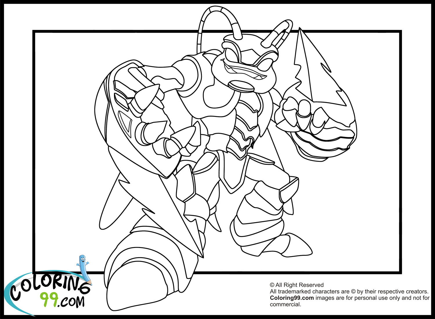 Skylanders hot head coloring pages ~ Skylanders Giants Coloring Pages | Team colors