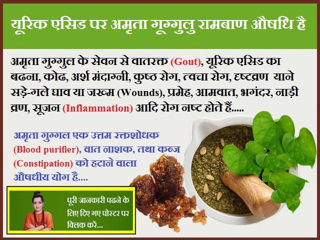Amrita Guggulu is a Panacea on Uric Acid