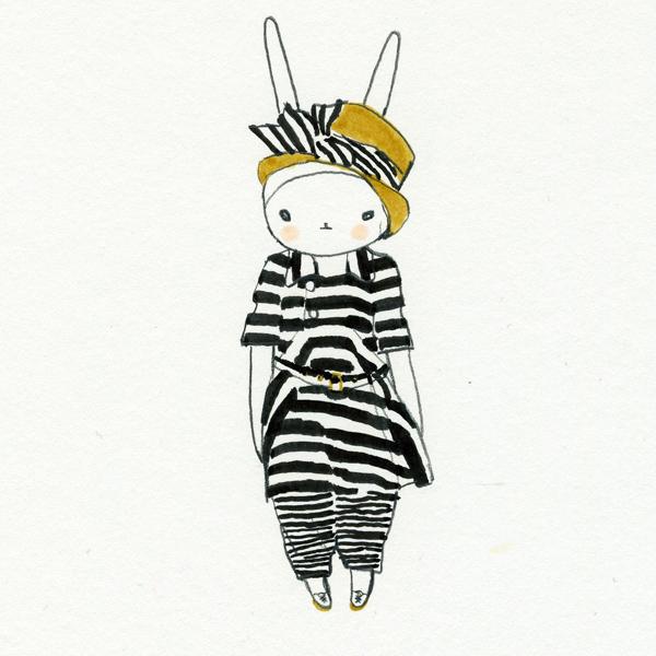 Fifi Lapin: Striped Fifi