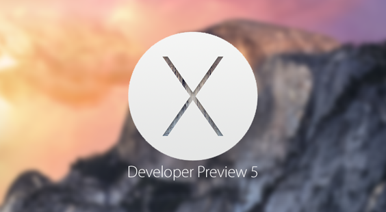 Download OS X 10.10 Yosemite Developer Preview 5 (14A314h) .DMG File via Direct Links