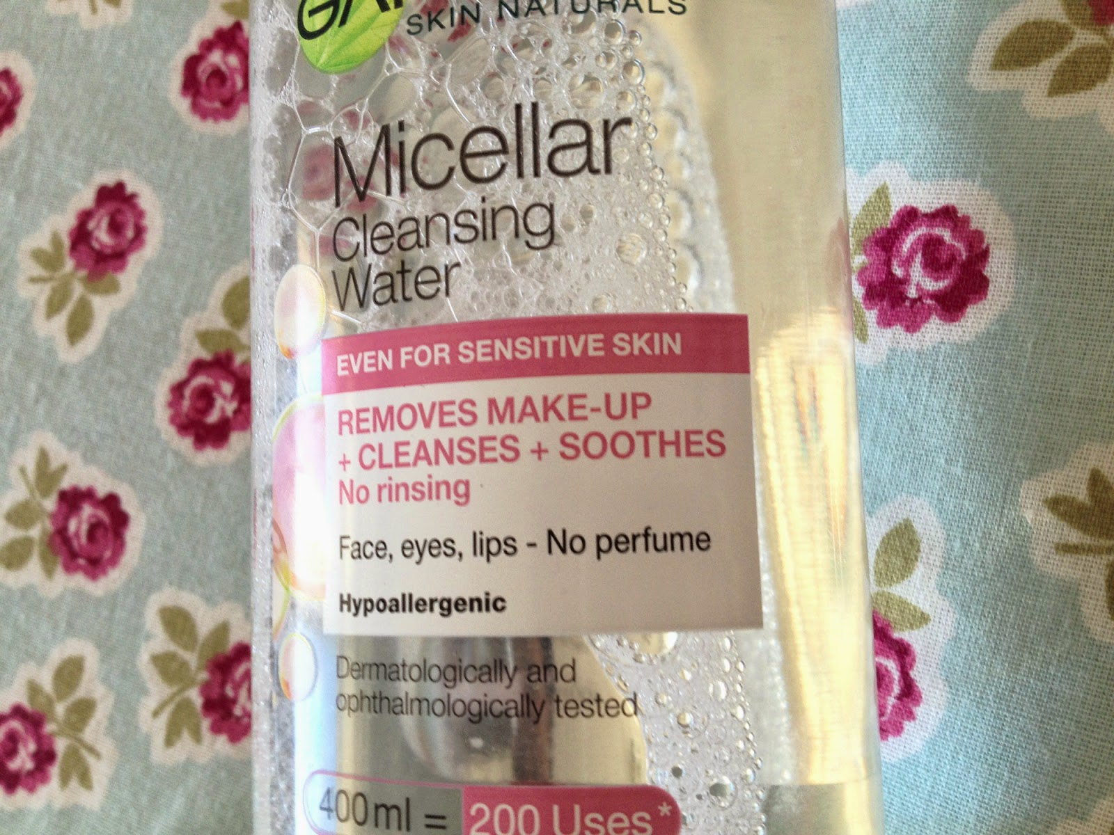 A close up of the micellar water