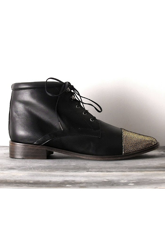 Chaussures Emma Go Bottines ashley noir/gold