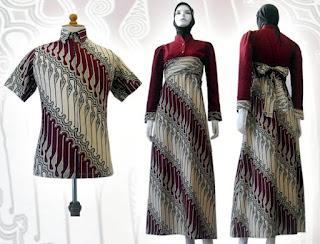 Batik Gamis Modern Couple Model Baju Pelauts