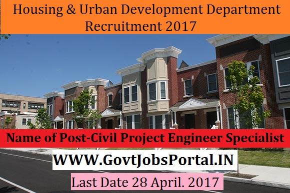 Housing And Urban Development Department Recruitment 2017 Municipal