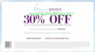 free Lane Bryant coupons february 2017