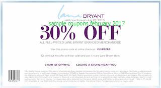 free Lane Bryant coupons february 2017