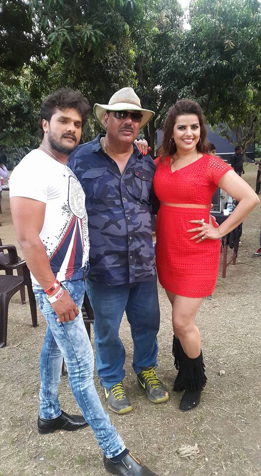 Madhu Sharma Khiladi Bhojpuri Movie Shooting stills, Khiladi Bhandar Bhojpuri Movie