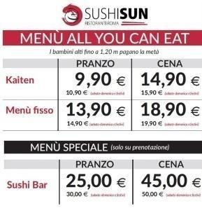 Sushi Sun prezzi