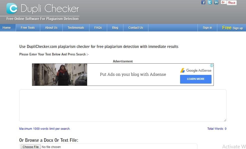 dupli checker plagiarisim checker tools