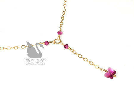 Swarovski Crystal Butterfly Necklace (N026)
