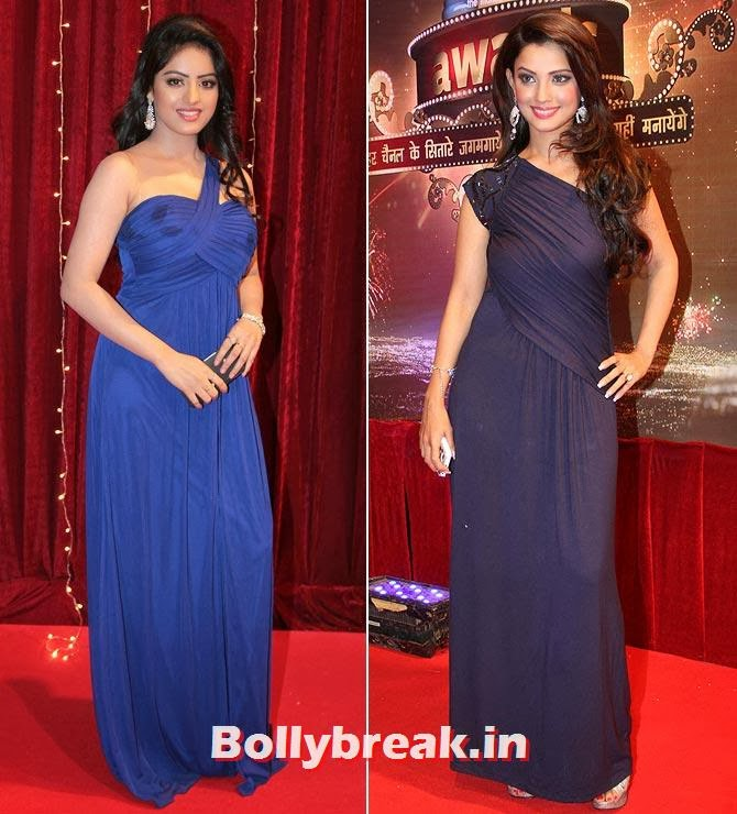 Deepika Singh and Adaa Khan on Indian Tele Awards 2013 Red carpet, Indian Tele Awards 2013 red Carpet Pictures - ITA - Lauren Gottlieb, Mouni Roy, Ratan Rajput