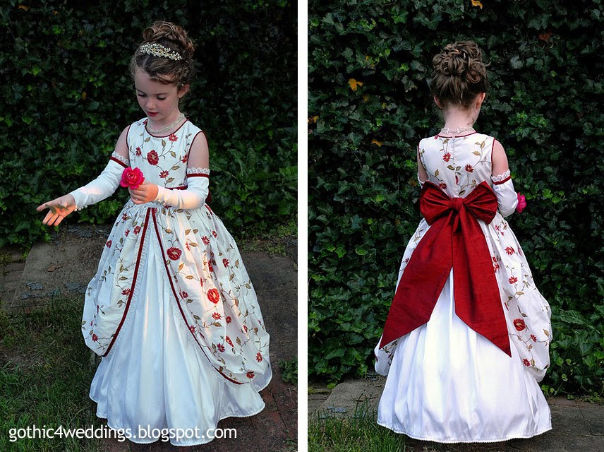 Gothic Wedding Gowns And Victorian Flower Girl Dresses