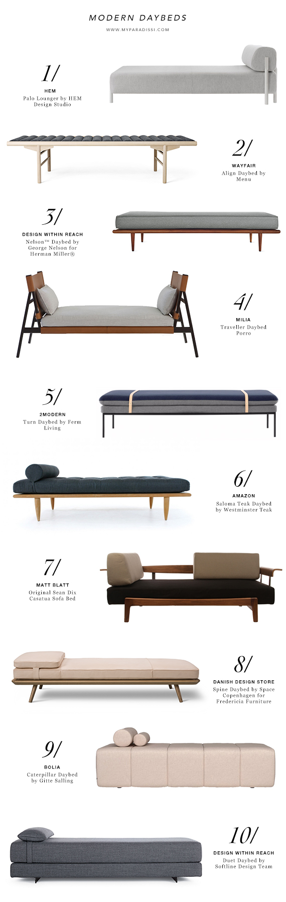 10 best modern daybeds