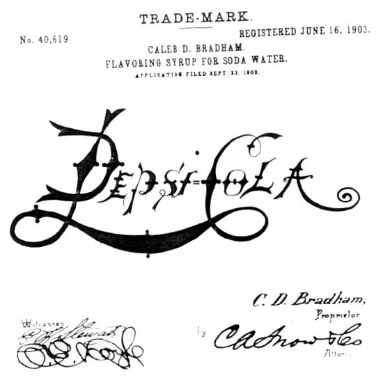 Pepsi-Cola trademark 1903