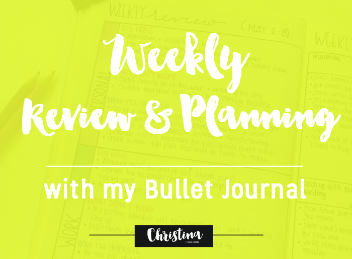 My Weekly Review and Planning keeps me focused and helps me achieve my goals - christina77star