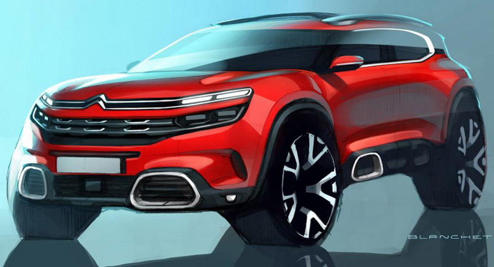 citroen c5 aircross debuting in production spec in shanghai. Black Bedroom Furniture Sets. Home Design Ideas