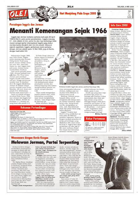 PERSAINGAN INGGRIS DAN JERMAN MENANTI KEMENANGAN SEJAK 1966