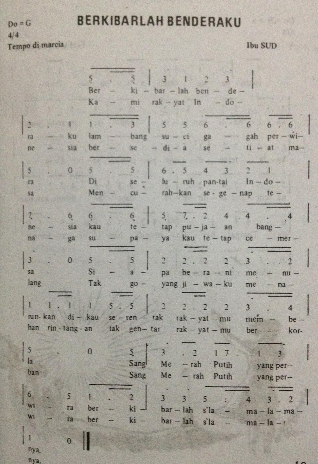 Not Pianika Lagu Berkibarlah Benderaku : pianika, berkibarlah, benderaku, Angka, Pianika, Berkibarlah, Benderaku, Indonesia, Terlengkap