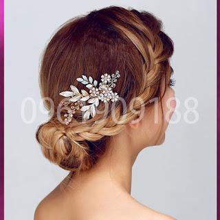 Hoa cài tóc cô dâu xinh xắn, hiện đại chắc chắn bạn sẽ thích 3