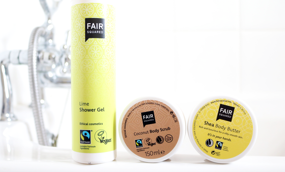 Fair Squared - Lime Shower Gel, Coconut Body Scrub & Shea Body Butter review