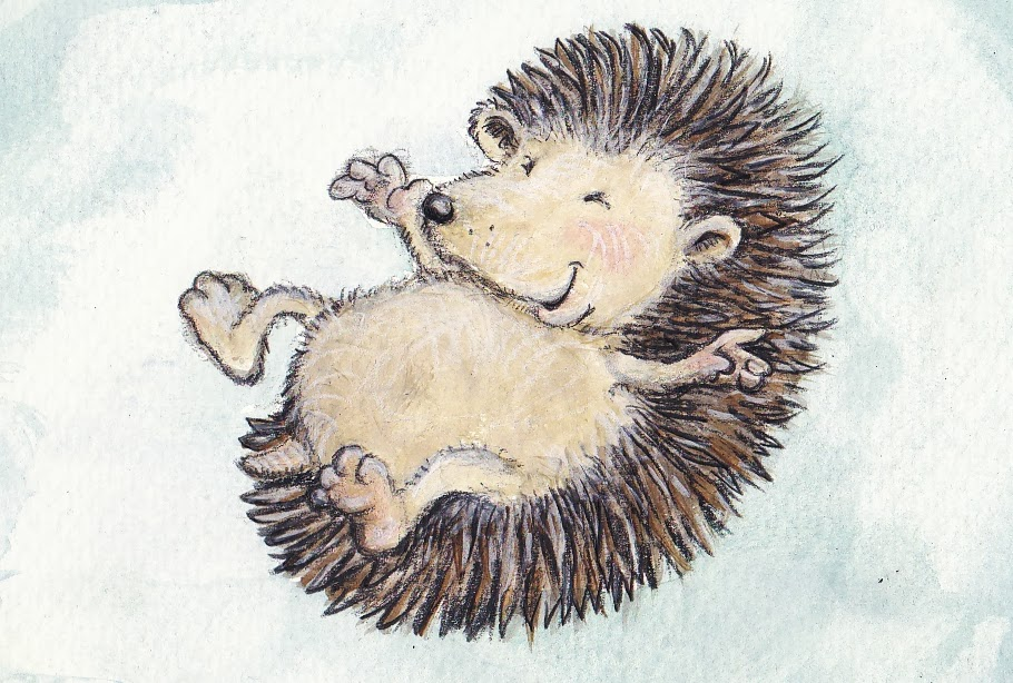 hedgehog, spring, happy, Igel, Frühling, Kinderbuchillustration, children's book illustration