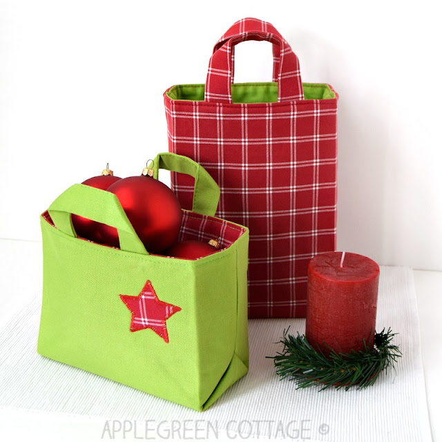This fabric gift bag pattern comes in 6 sizes and different dimensions. It's perfect to hold all your Christmas gifts. The PDF sewing pattern has detailed step-by-step instructions with lots of photos, tips and a Sew-to-Sell license. Check out this great Christmas sewing project!