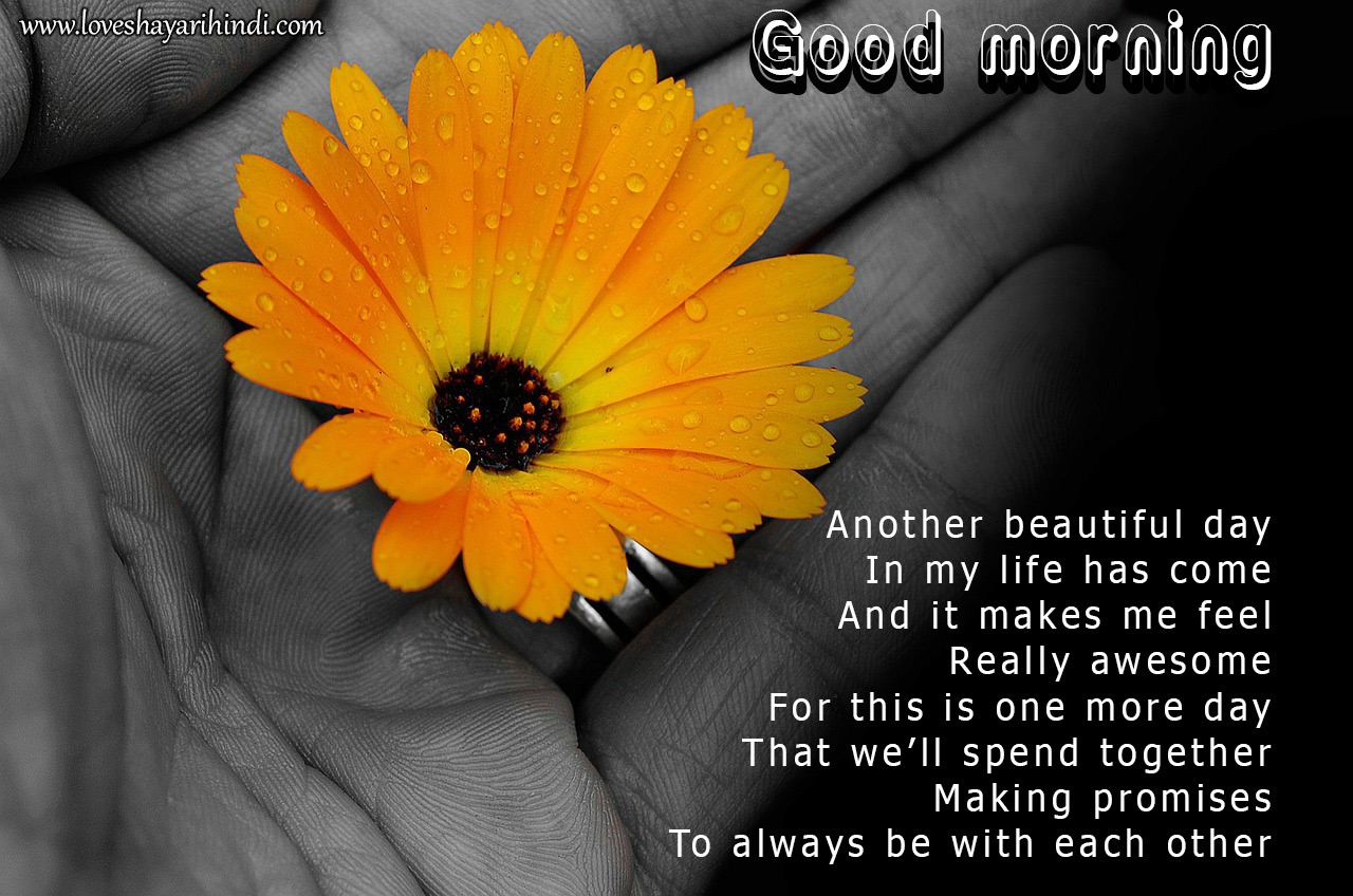 Good Morning Poems for Her in English