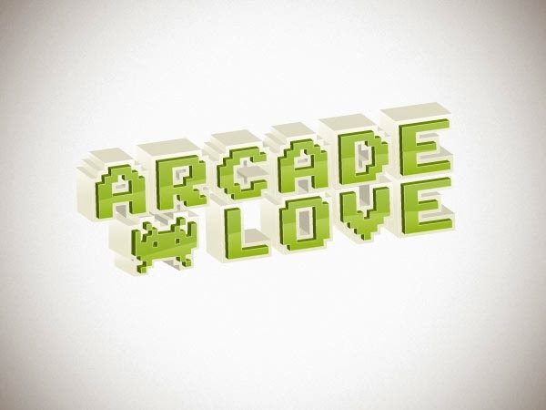 Retro 3-D Arcade Text Effect in Illustrator