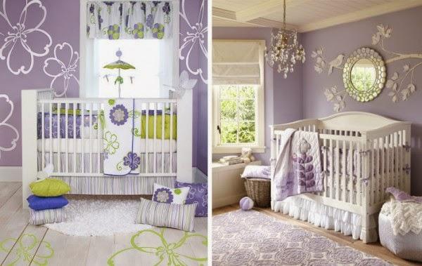 Habitaciones de beb en gris y morado dormitorios - Colores habitacion bebe ...
