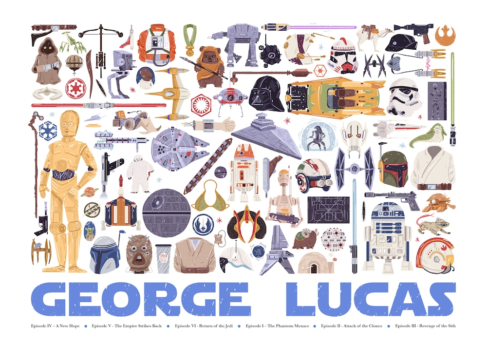 01-George-Lucas-Maria-Suarez-Inclan-Movie-Illustrations-Infographic-Guess-the-Film-www-designstack-co
