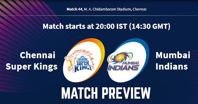VIVO IPL 2019 Match 44 CSK vs MI Match Preview, Head to Head and Trivia