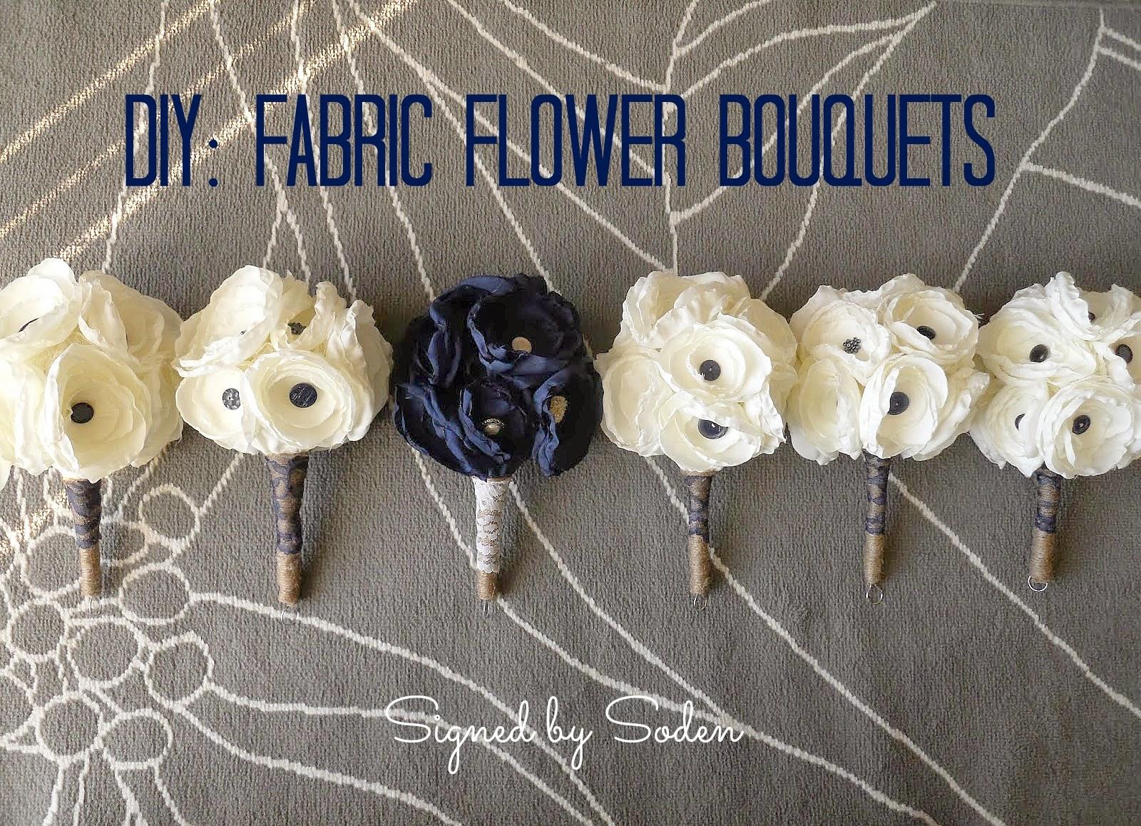 DIY: Fabric Flower Bouquets