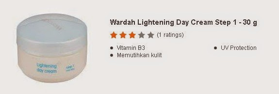 Wardah Lightening Day Cream Step 1 - 30 g