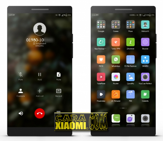 Download Link Thema Xiaomi MIUI V9 Terbaru Flox UI Light V3 Mtz Gratis