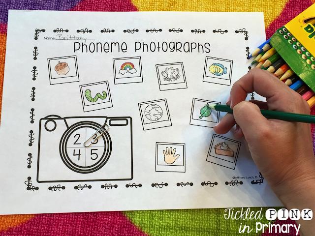 math worksheet : tickled pink in primary phoneme segmentation for kindergarten rti  : Phoneme Segmentation Worksheets Kindergarten